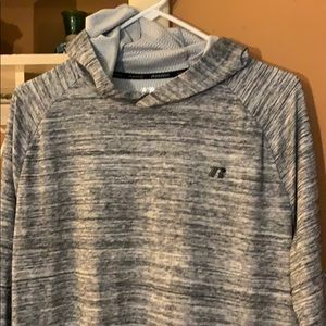 (grey/black patterned) L Russell pullover hoodie